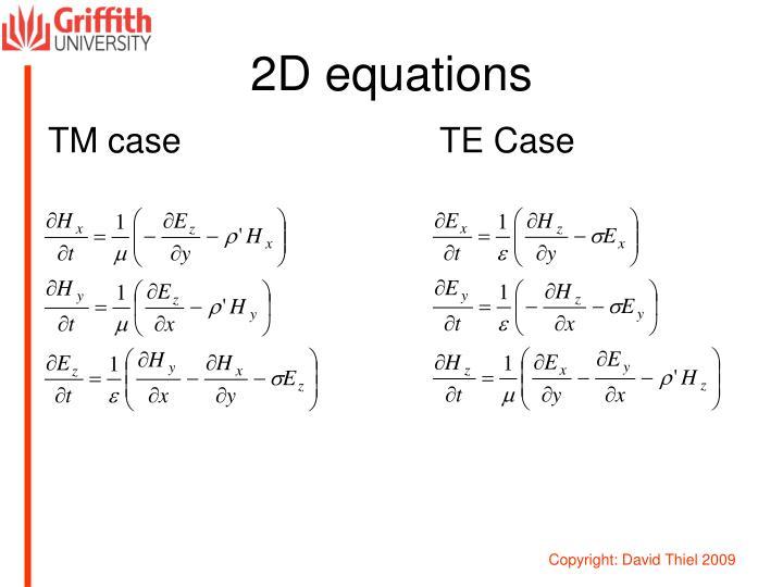2D equations