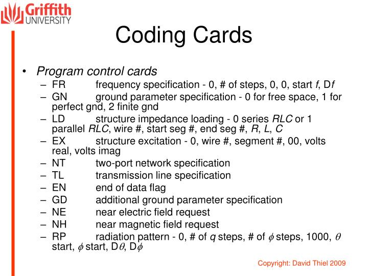 Coding Cards