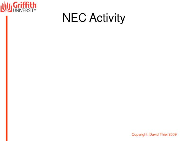 NEC Activity