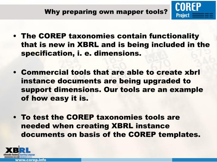 Why preparing own mapper tools