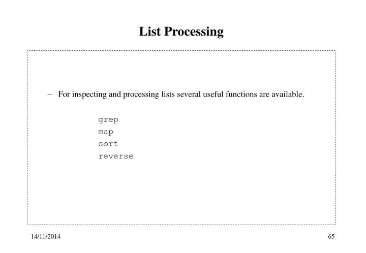 List Processing
