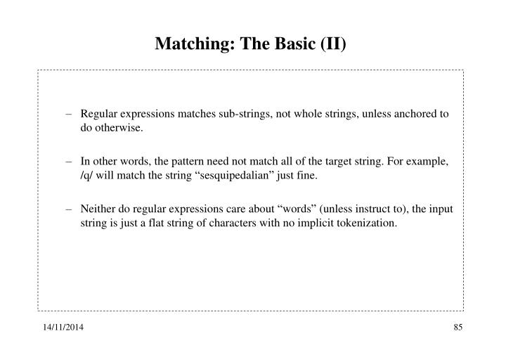 Matching: The Basic (II)