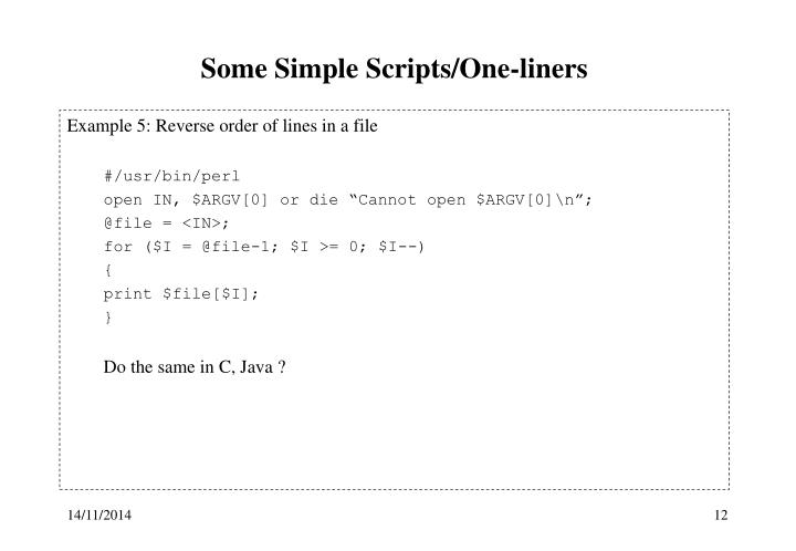 Some Simple Scripts/One-liners