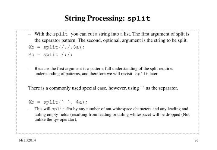 String Processing: