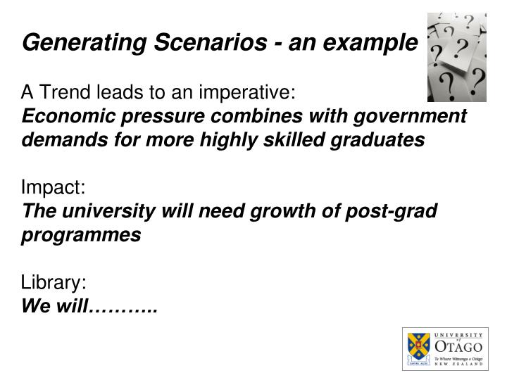 Generating Scenarios