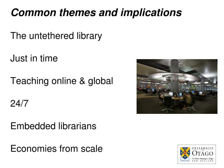Common themes and implications