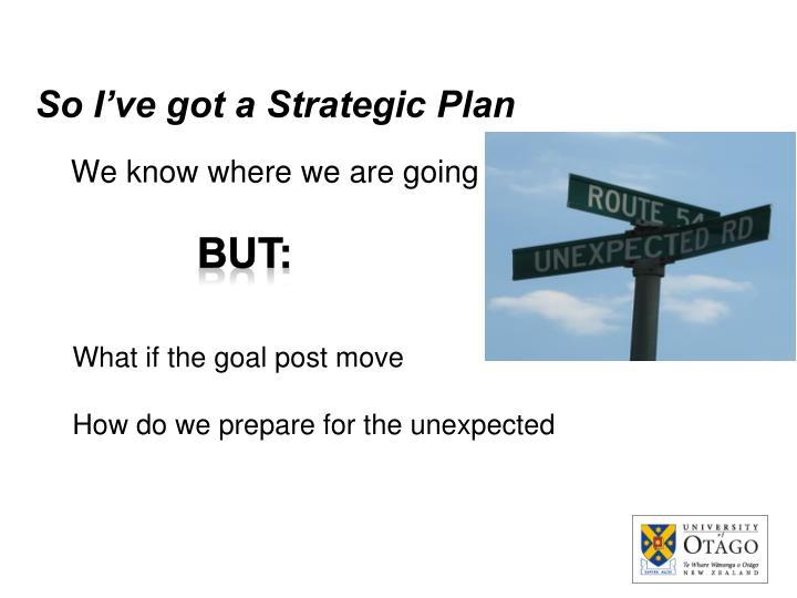 So I've got a Strategic Plan
