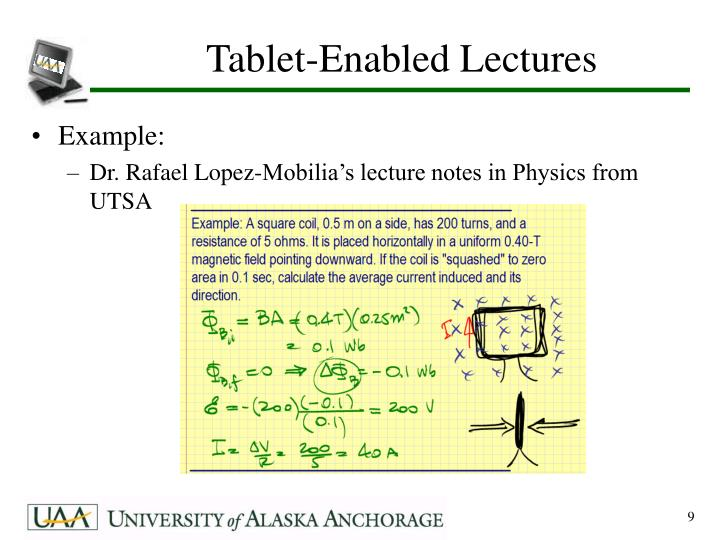 Tablet-Enabled Lectures
