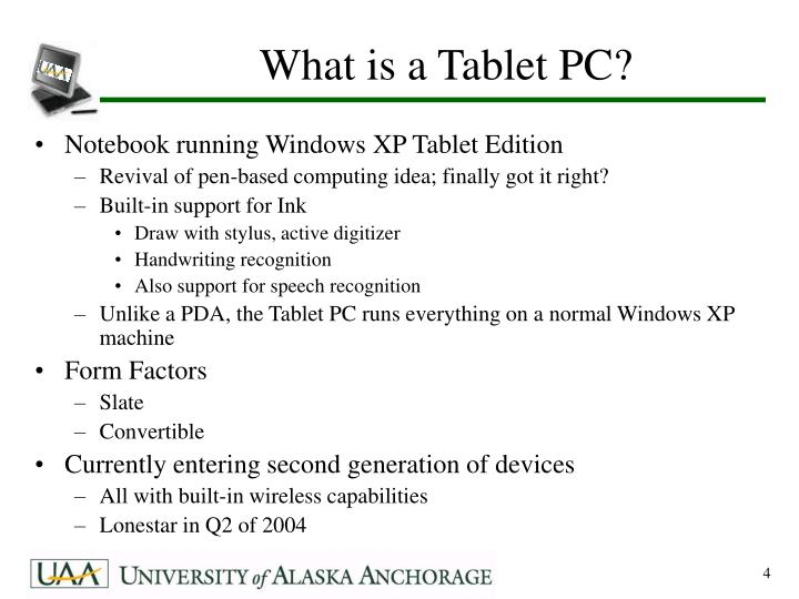 What is a Tablet PC?