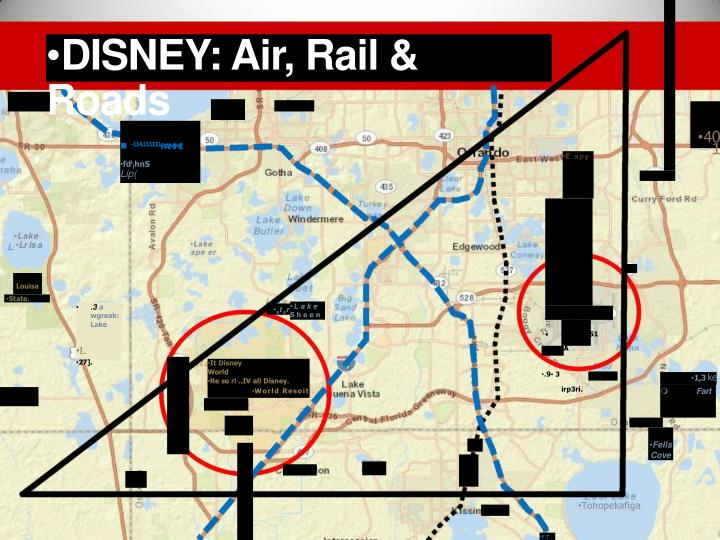 DISNEY: Air, Rail & Roads