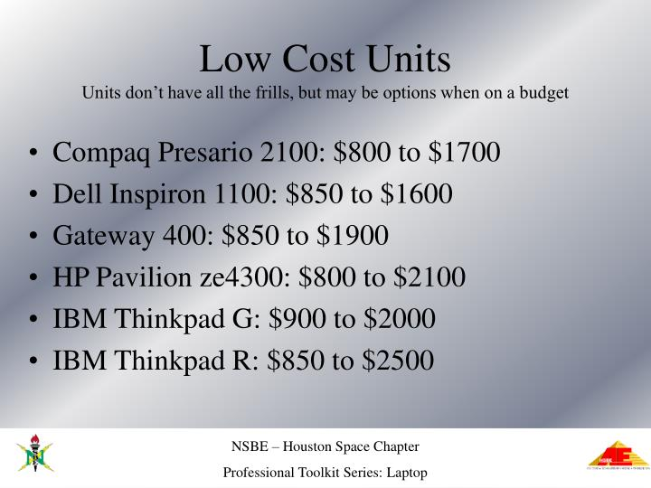 Low Cost Units