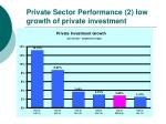 private sector performance 2 low growth of private investment