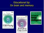 educational tip on brain and memory