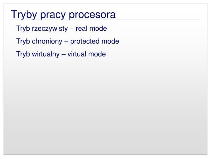 Tryby pracy procesora