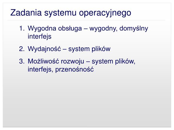 Zadania systemu operacyjnego1