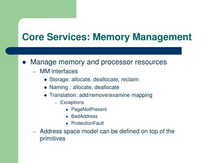 Core Services: Memory Management
