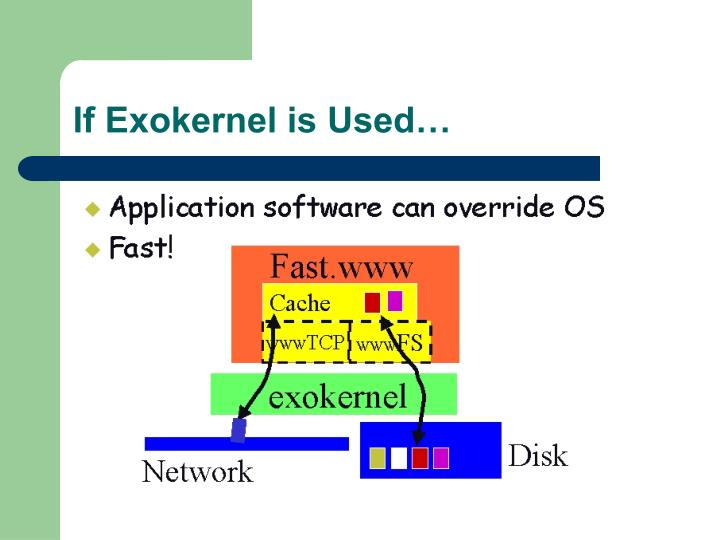 If Exokernel is Used…
