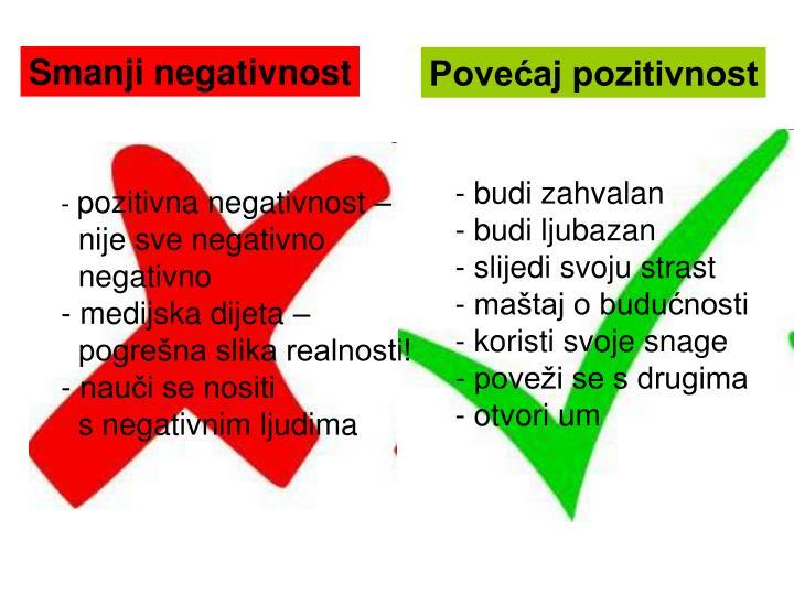 Smanji negativnost