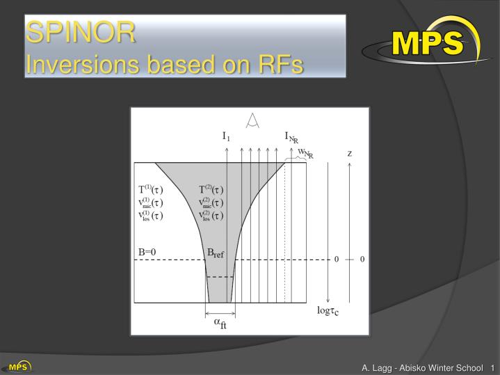spinor inversions based on rfs n.
