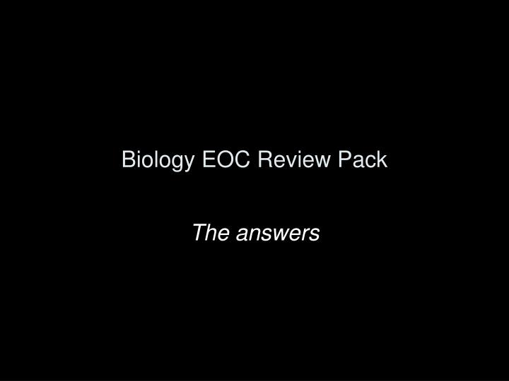 biology eoc review pack