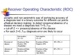 receiver operating characteristic roc