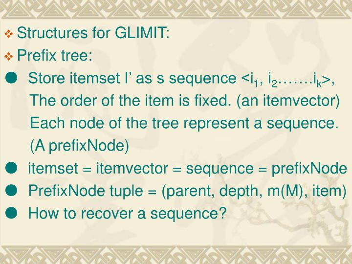Structures for GLIMIT:
