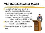the coach student model