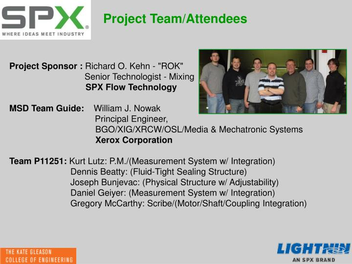 Project Team/Attendees