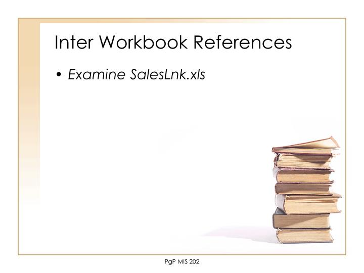 Inter Workbook References