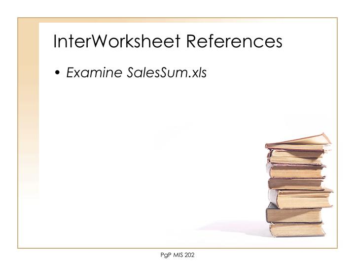 InterWorksheet References