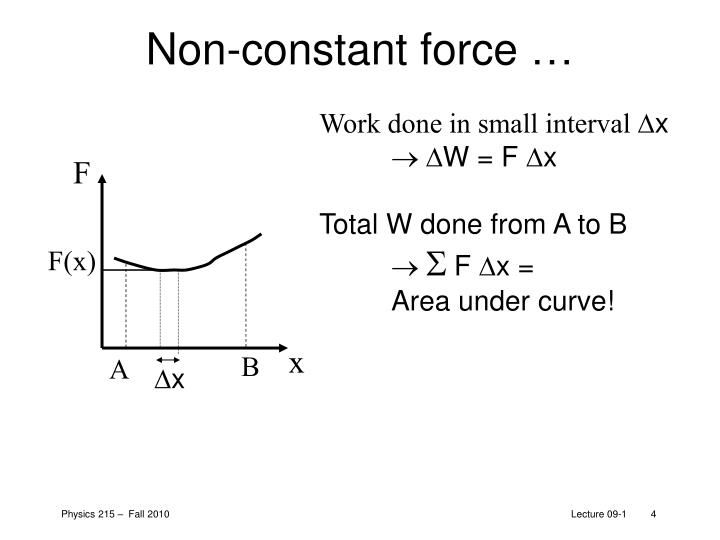 Non-constant force …