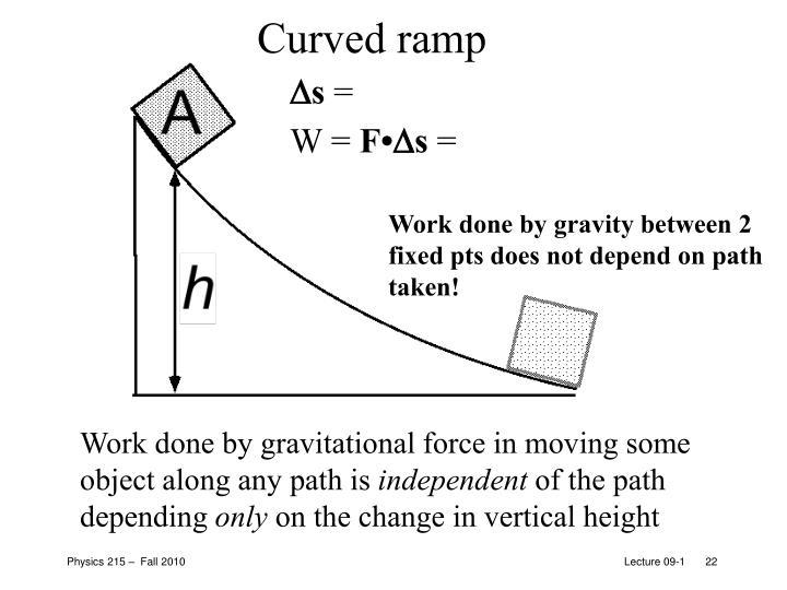 Curved ramp