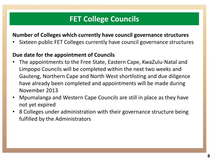 FET College Councils