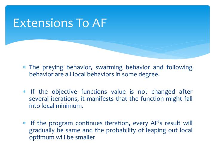 Extensions To AF