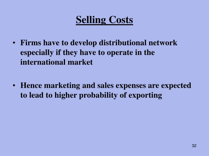 Selling Costs