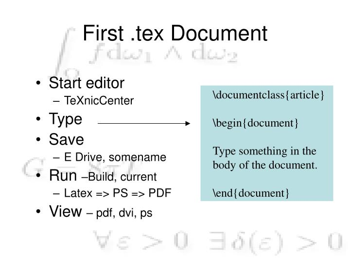 First .tex Document