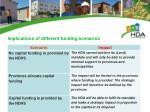 implications of different funding scenarios
