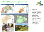 lam identifying land and spatial analysis
