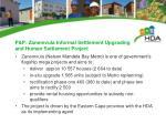 p p zanemvula informal settlement upgrading and human settlement project