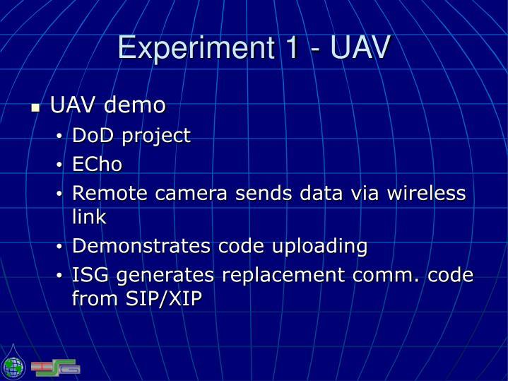 Experiment 1 - UAV
