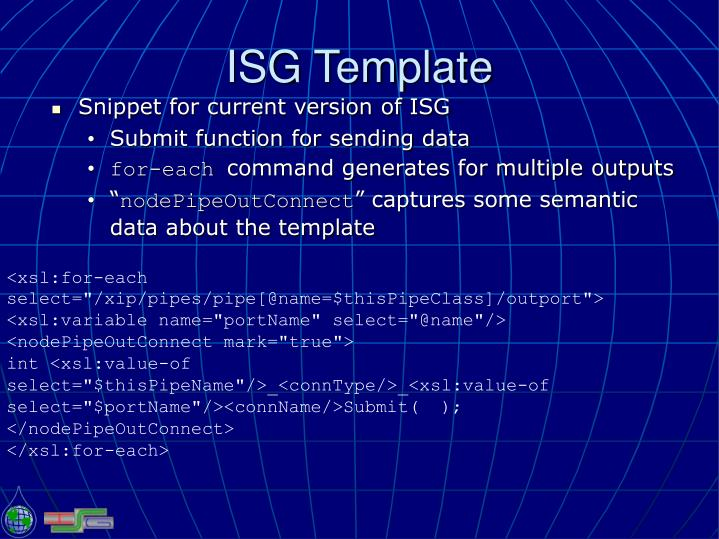 ISG Template