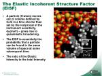 the elastic incoherent structure factor eisf