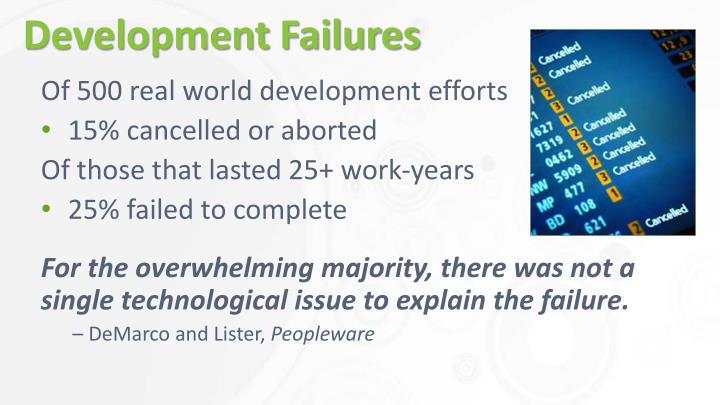 Development failures