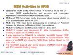 m2m activities in arib