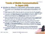 trends of mobile communications in japan 4 6