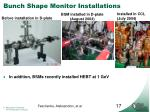bunch shape monitor installations