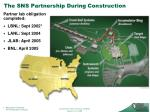 the sns partnership during construction