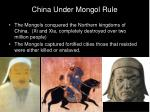 china under mongol rule