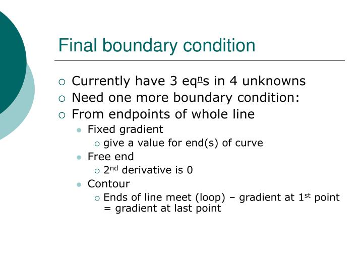 Final boundary condition