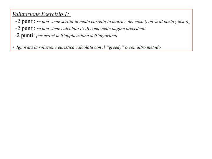 Valutazione Esercizio 1: